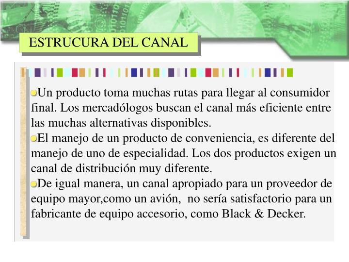 ESTRUCURA DEL CANAL