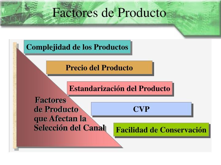Factores de Producto