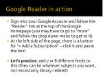 google reader in action