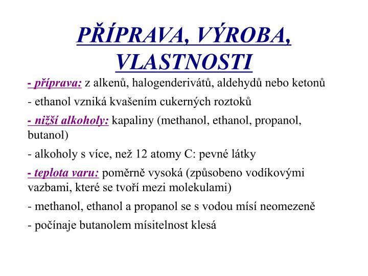 - příprava:
