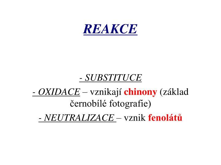- SUBSTITUCE