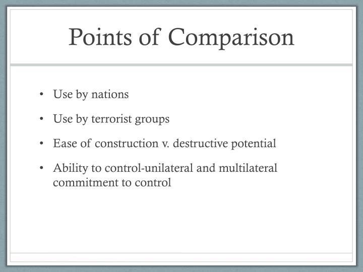 Points of Comparison