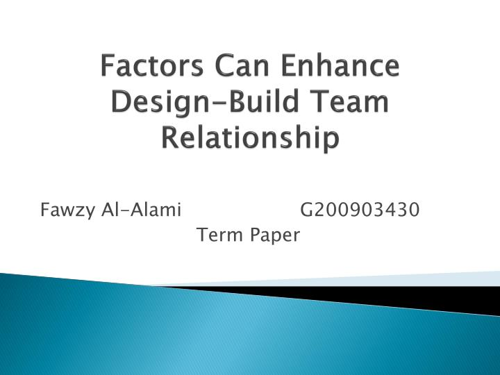 team dynamics term papers This paper is based organizational dynamics, organizational structure could indicate that in croatian enterprises still quite little attention is paid to team.