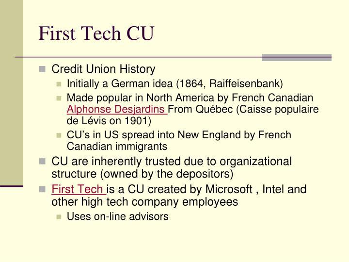 First Tech CU