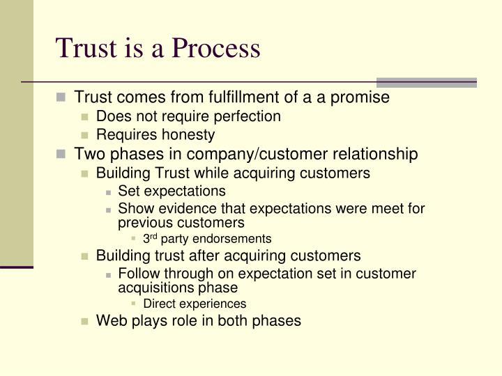Trust is a Process