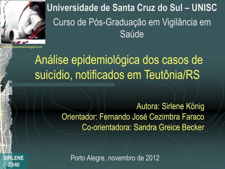 Universidade de Santa Cruz do Sul – UNISC