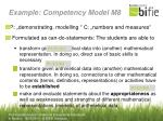 example competency model m8