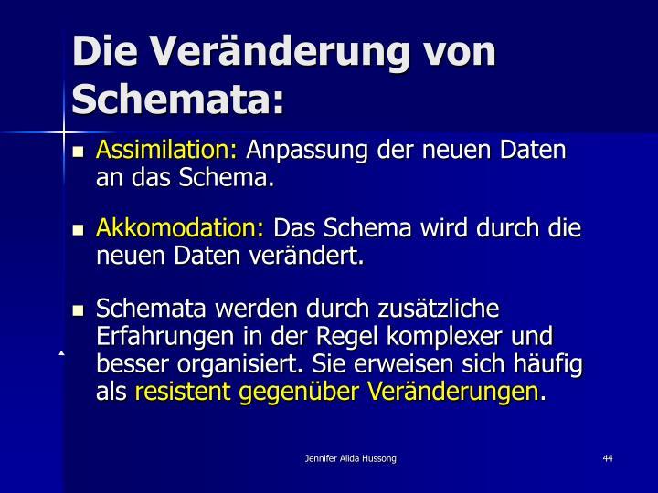 Die Veränderung von Schemata: