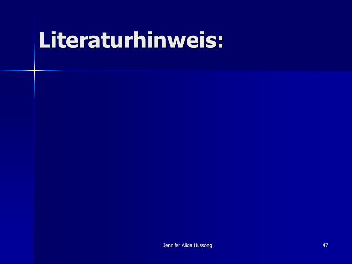 Literaturhinweis: