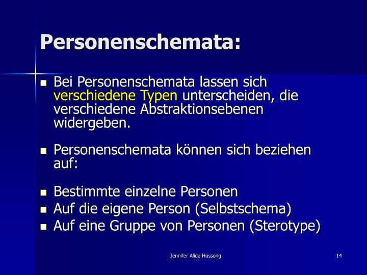 Personenschemata:
