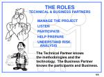 the roles technical business partners