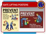 safe lifting posters