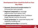 development vision should be built on four key pillars