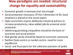 new paradigms are needed structural change for equality and sustainability