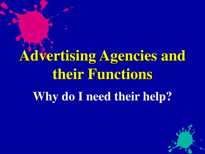 Advertising agencies and their functions