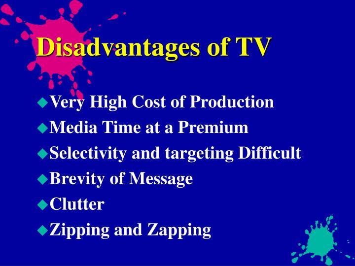 Disadvantages of TV