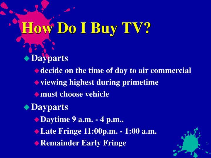 How Do I Buy TV?