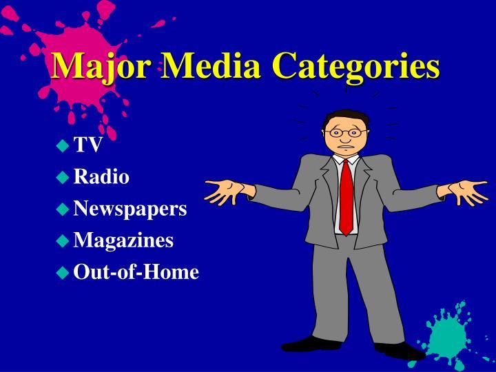 Major Media Categories