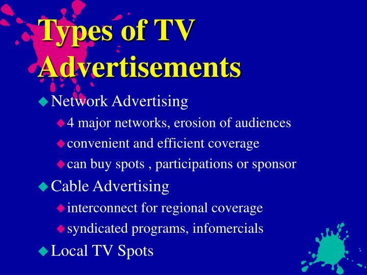 Types of TV Advertisements