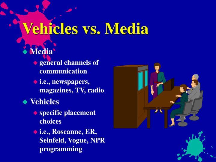 Vehicles vs. Media