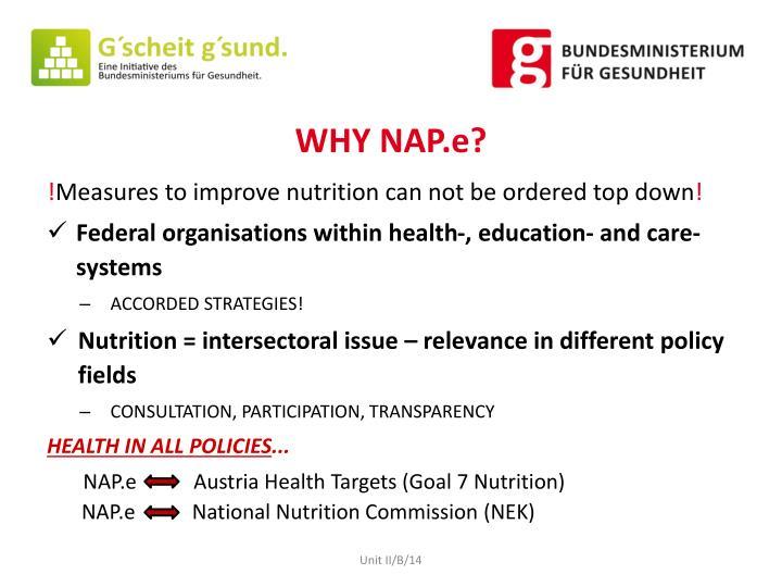 WHY NAP.e?