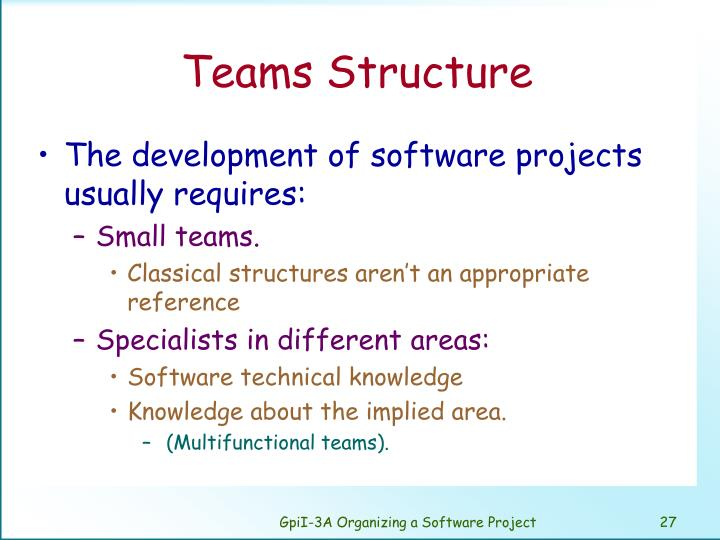 Teams Structure