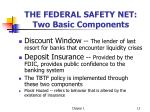 the federal safety net two basic components