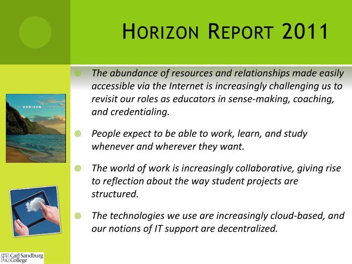 Horizon Report 2011