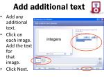 add additional text