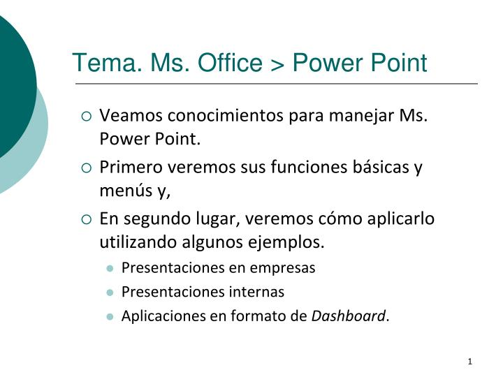Tema ms office power point