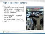 high tech control centers