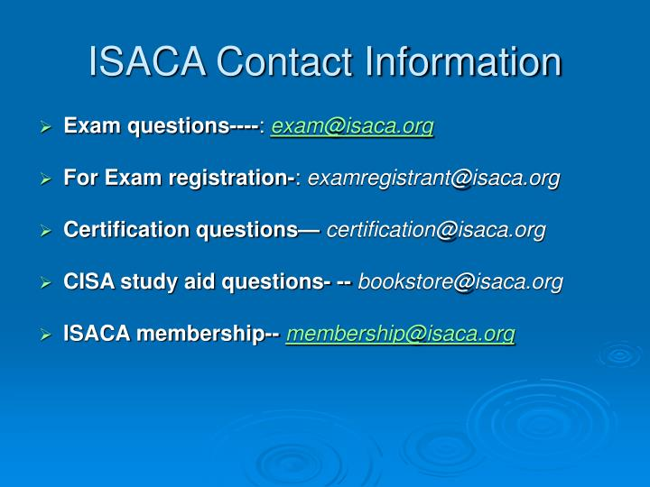 ISACA Contact Information