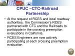 cpuc ctc railroad partnership
