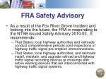 fra safety advisory