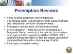 preemption reviews
