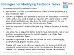 strategies for modifying textbook tasks