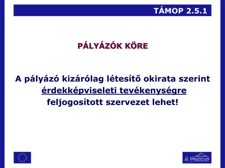 TÁMOP 2.5.1