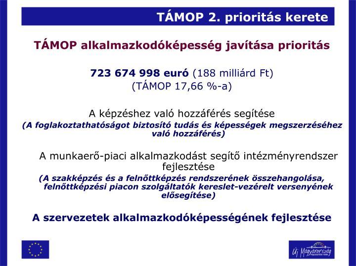 TÁMOP 2. prioritás kerete