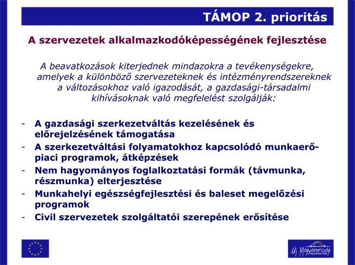 TÁMOP 2. prioritás