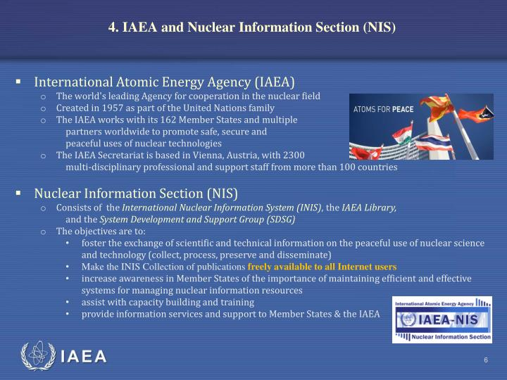 4. IAEA and Nuclear Information Section (NIS)