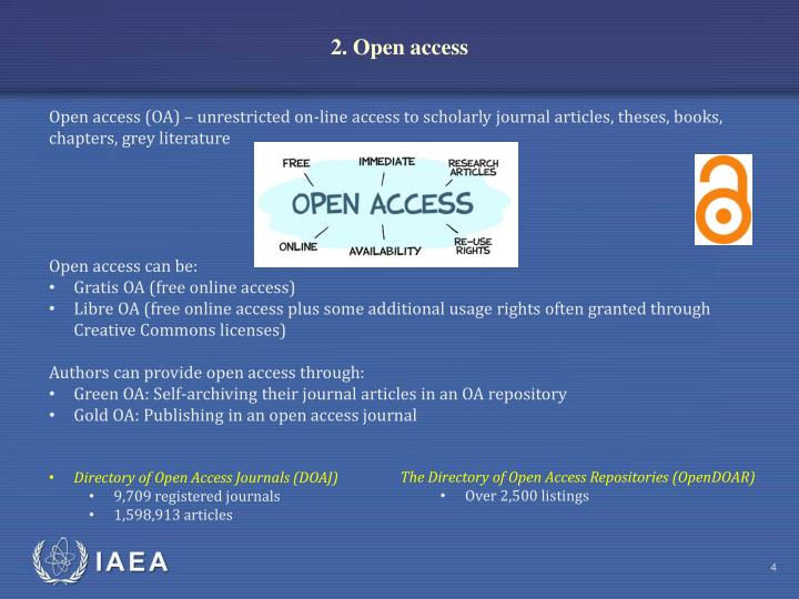2. Open access
