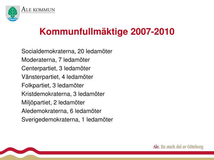 Kommunfullmäktige 2007-2010