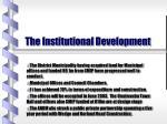 the institutional development
