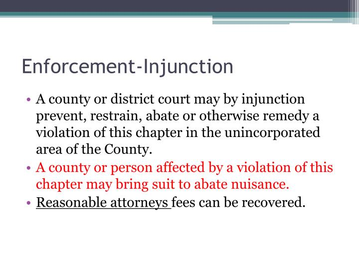 Enforcement-Injunction