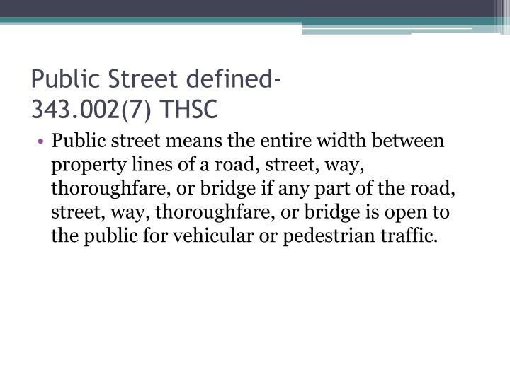 Public Street defined-