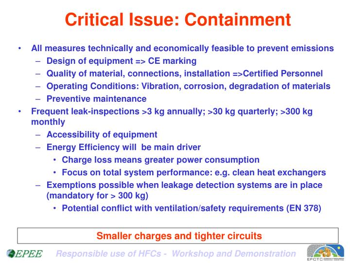 Critical Issue: Containment