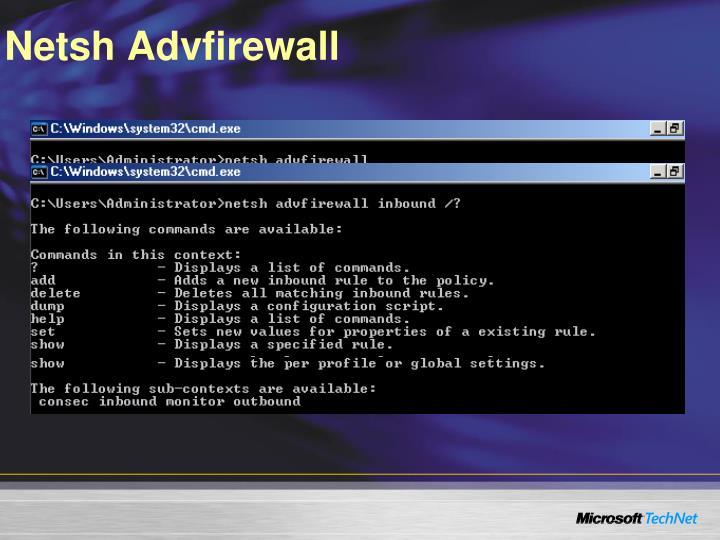 Netsh Advfirewall