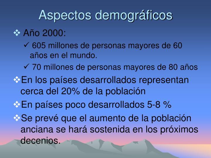 Aspectos demogr ficos