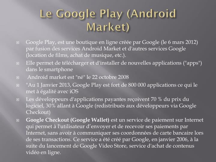 Le Google Play