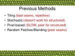 previous methods